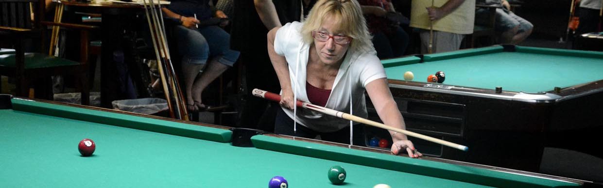Woman Thinking, pool, billiards